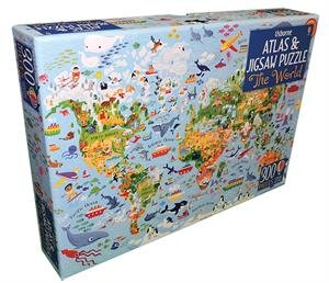 World Atlas - Book + 300 Piece Puzzle