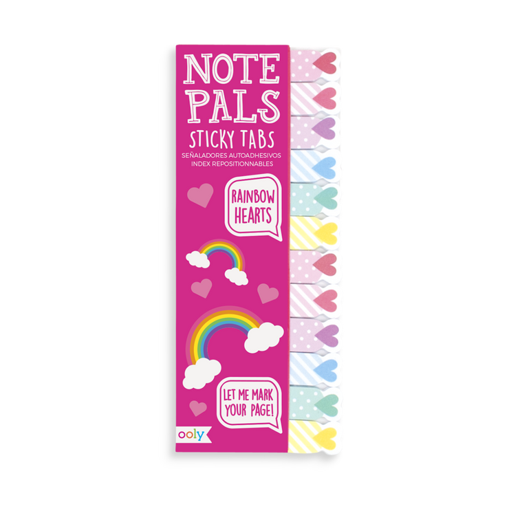 Note Pals Sticky Tabs: Rainbow Hearts