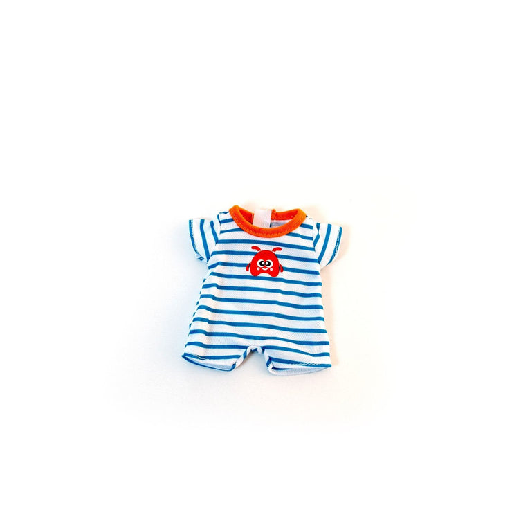 "Tiny Baby Blue Onesie - for 8.25"" dolls"