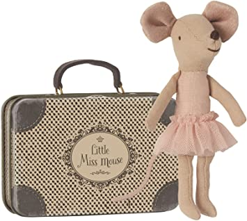 Little Miss Mouse with Suitcase