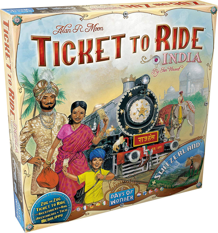 Ticket to Ride Expansion - India/Switzerland