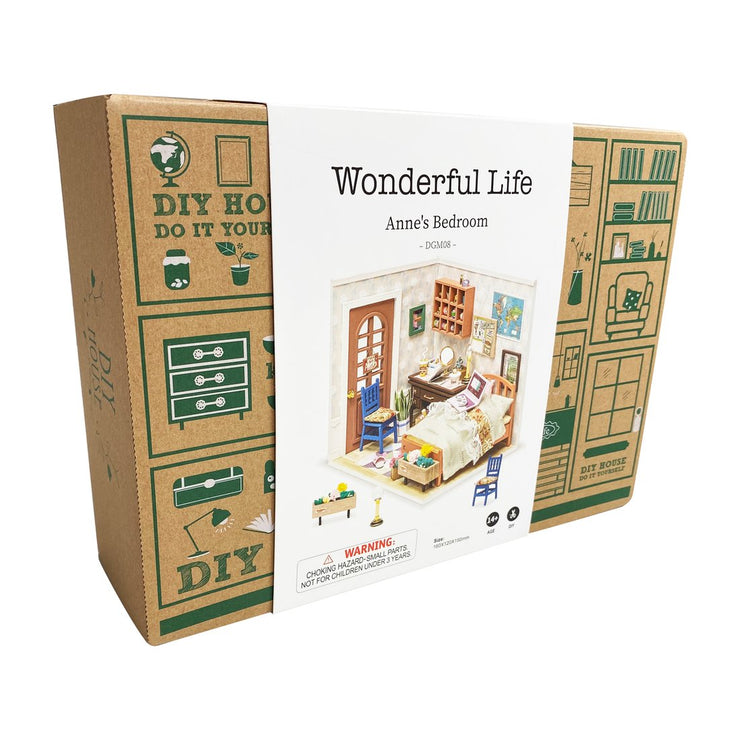 Wonderful Life Collection - Anne's Bedroom DIY Miniature Dollhouse Kit