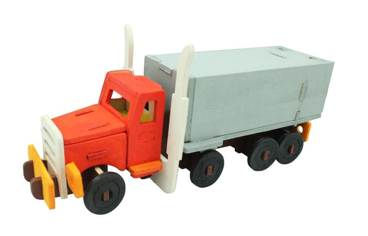 DIY 3D Wooden Puzzle Paint Kit - Truck