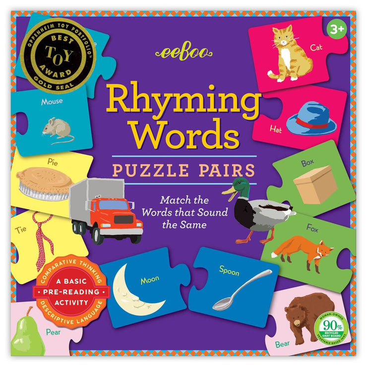 Rhyming Words Puzzle Pairs Game