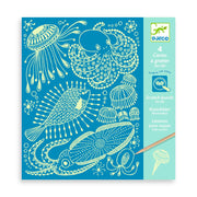 Sea Life Scratch Boards