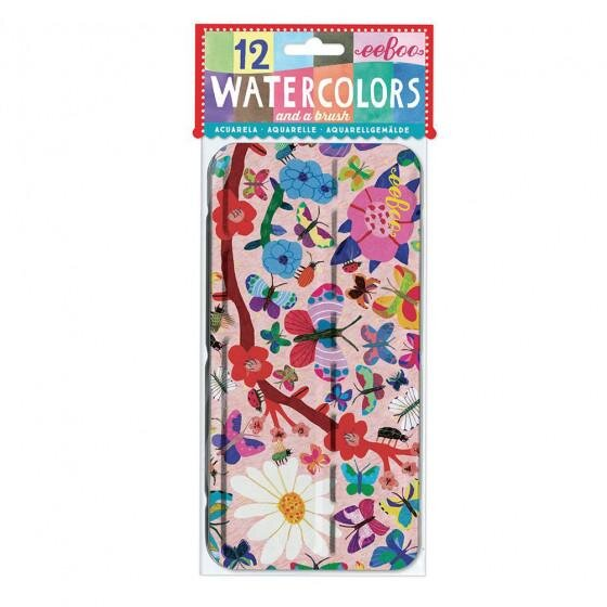 Butterflies Watercolor Tin
