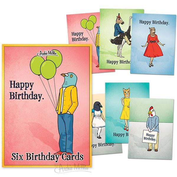 Peculiar Friends Boxed Card Set - Birthday
