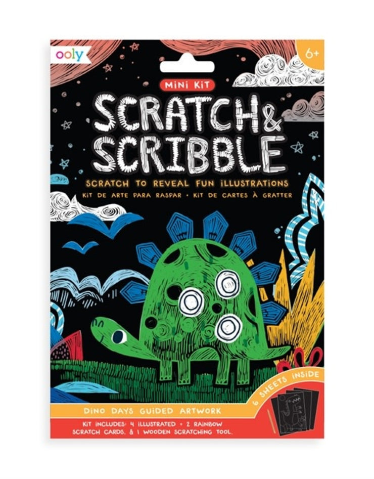 Dinosaur Mini Scratch & Scribble Art Kit
