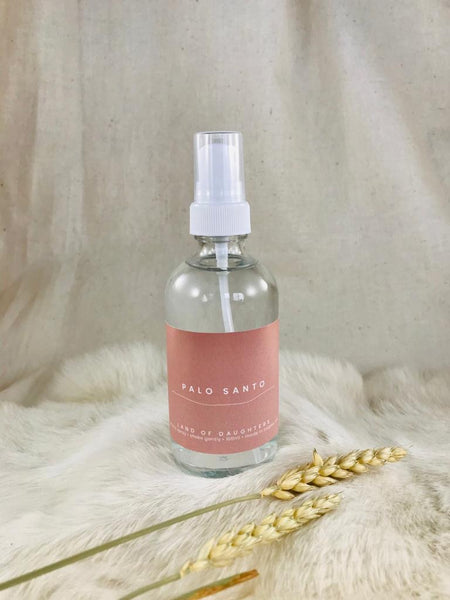 Palo santo aroma spray by Land of Daughters available at Local Assembly