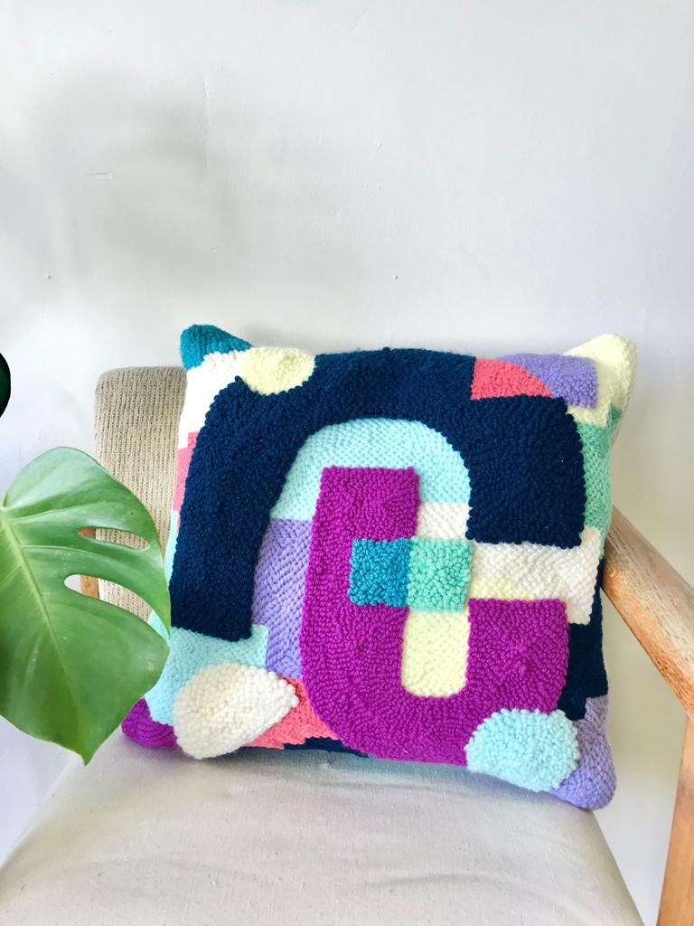Large punch needle pillow by Going Steady available at Local Assembly