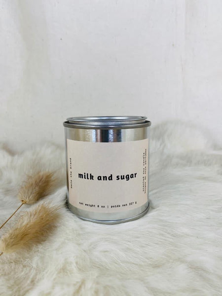 Milk and Sugar candle by Mala the Brand available at Local Assembly