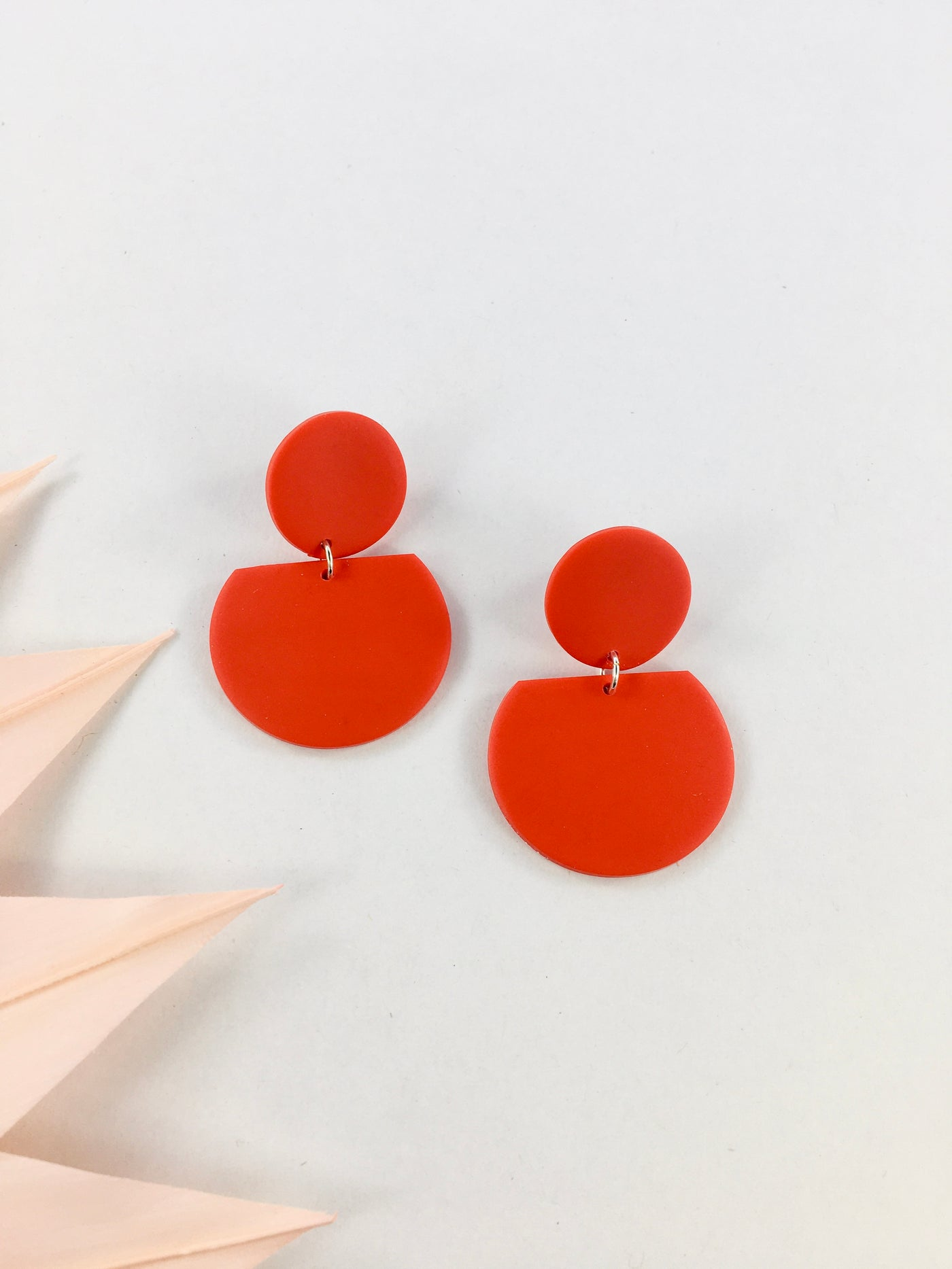Mila earrings in red by Kaju Creations available at Local Assembly