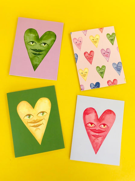 Heart Card pack by Caitlin McDonagh available at Local Assembly