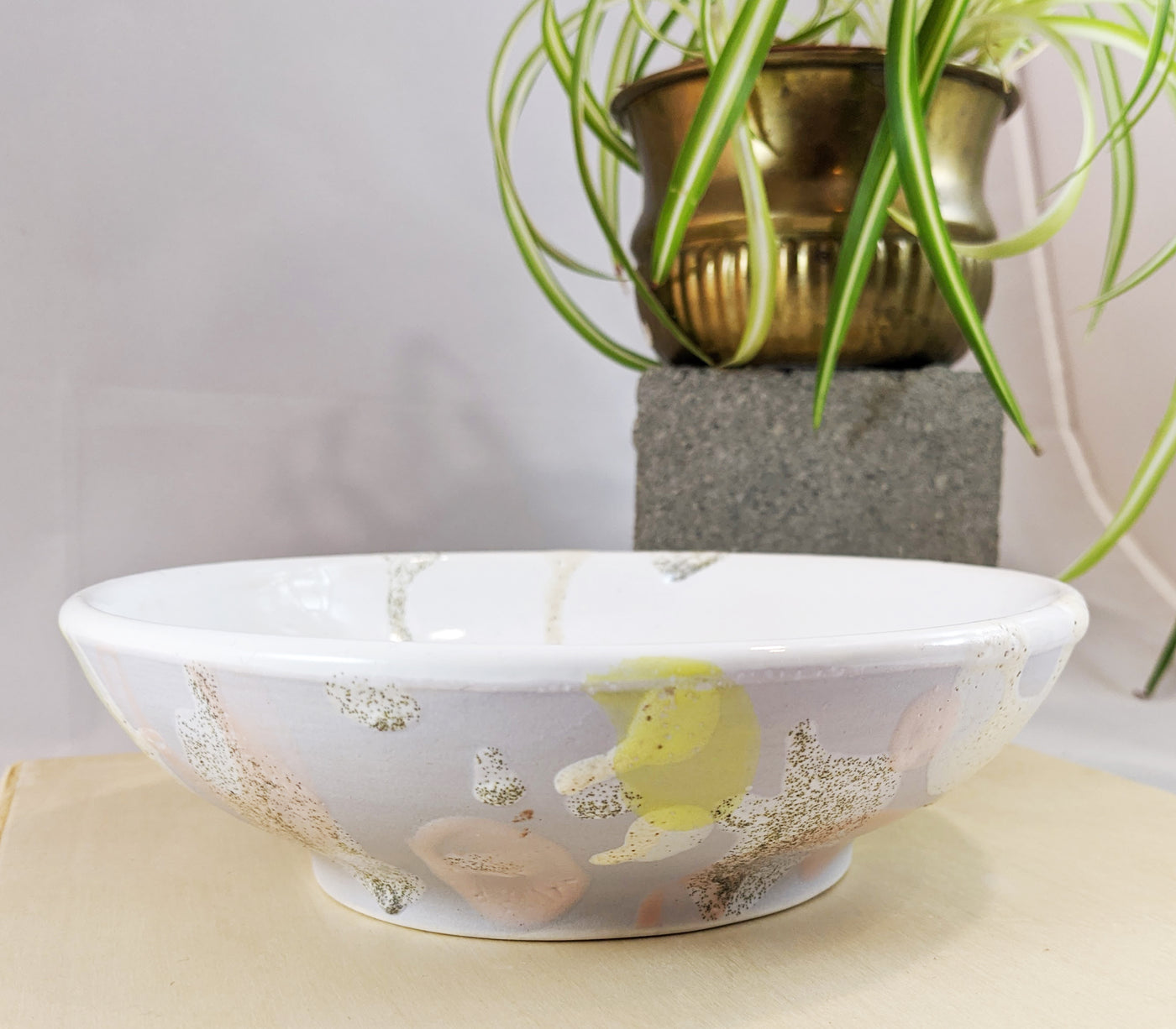 Pastel swoosh ceramic bowl by Meg Hubert available at Local Assembly