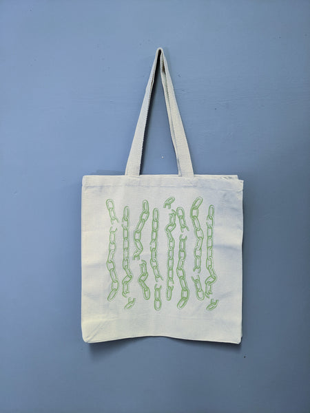 Chainlink tote by Lizard Breath available at Local Assembly