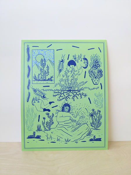 Green and blue abstract print by Chanel Colleaux available at Local Assembly