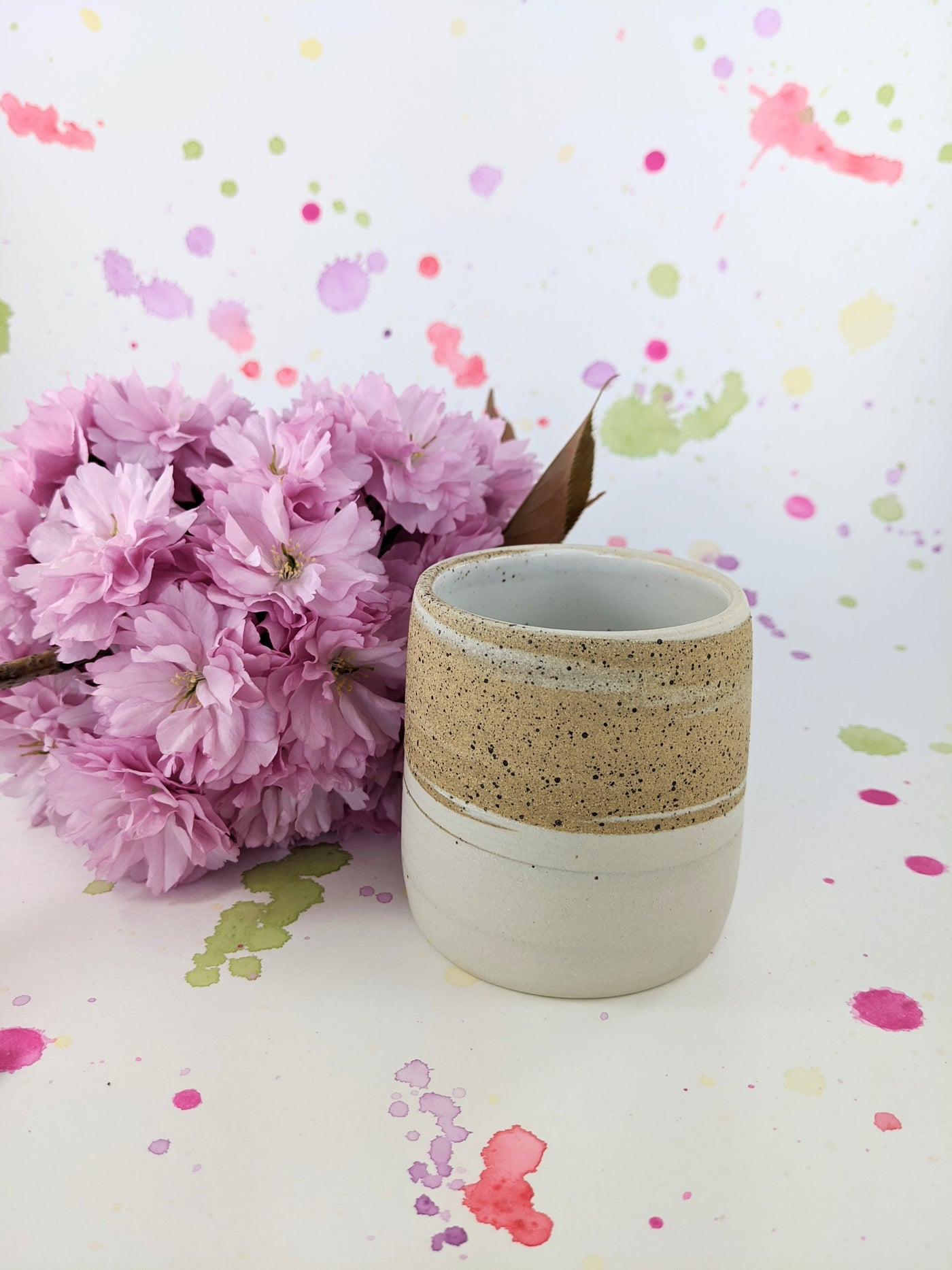 Ceramic swirl tumbler by From Tree to Sea available at Local Assembly