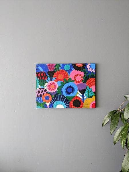 Multicolour floral painting by Coreena Lewis available at Local Assembly