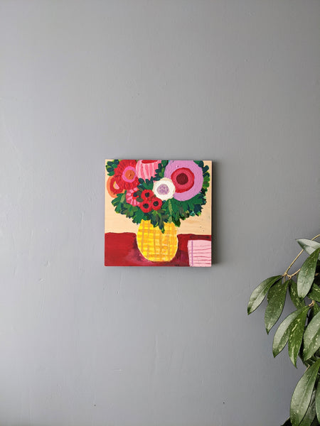 A painting of a vase of flowers by Coreena Lewis available at Local Assembly
