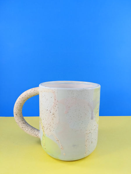 Blue splatter mug by Meg Hubert available at Local Assembly