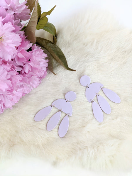 Lavender polymer clay Lara earrings by Kaju Creations available at Local Assembly
