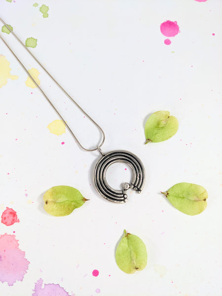 Sterling silver rainbow necklace by Solee Darrell available at Local Assembly