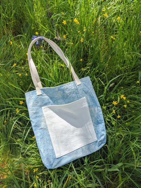 Indigo pocket tote by Never Ending Weekend available at Local Assembly