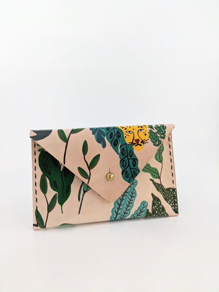 Jungle print leather wallet by Nazz Ares available at Local Assembly