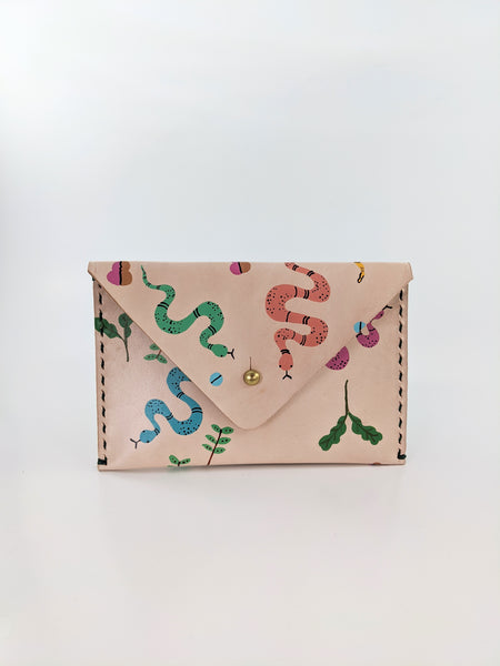 Colourful snake print leather wallet by Nazz Ares available at Local Assembly
