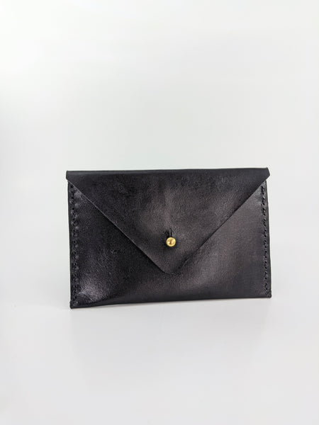 Black leather wallet by Nazz Ares available at Local Assembly