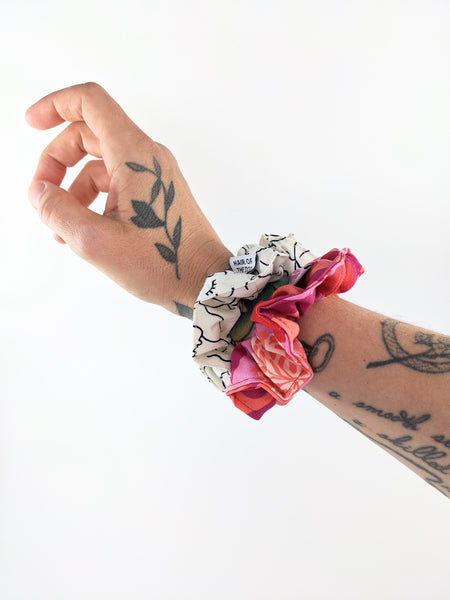 Patterned fabric scrunchies by Hair of the Dog available at Local Assembly