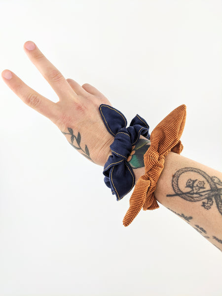 Bow scrunchies by Hair of the Dog Scrunchies available at Local Assembly