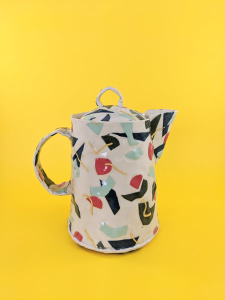 Multi coloured ceramic carafe by Marita Manson available at Local Assembly