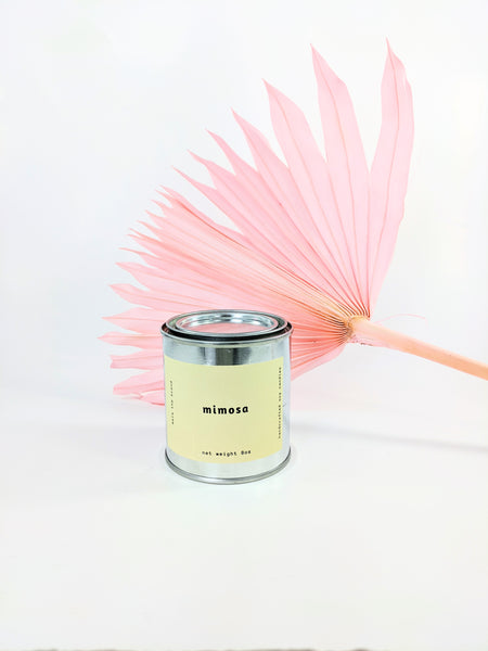 Mimosa candle by Mala the Brand available at Local Assembly