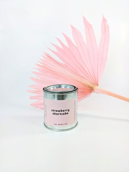 Strawberry shortcake candle by Mala the Brand available at Local Assembly