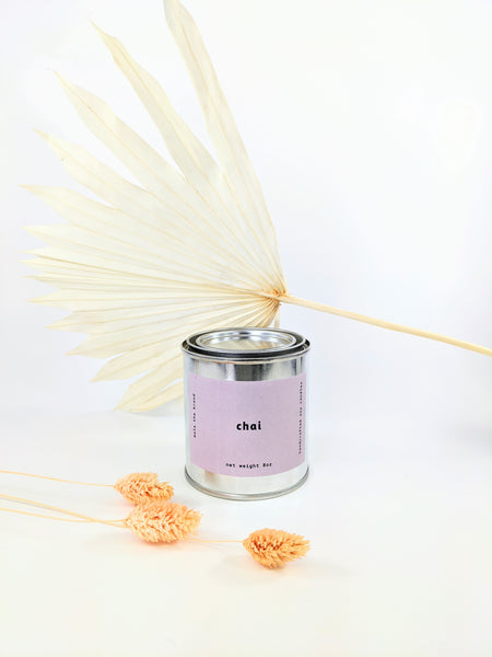 Mala the Brand chai candle available at Local Assembly