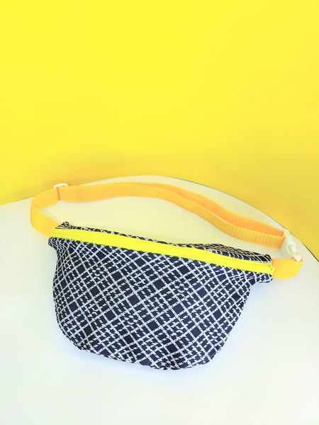 Navy and yellow fanny pack by Pep! available at Local Assembly