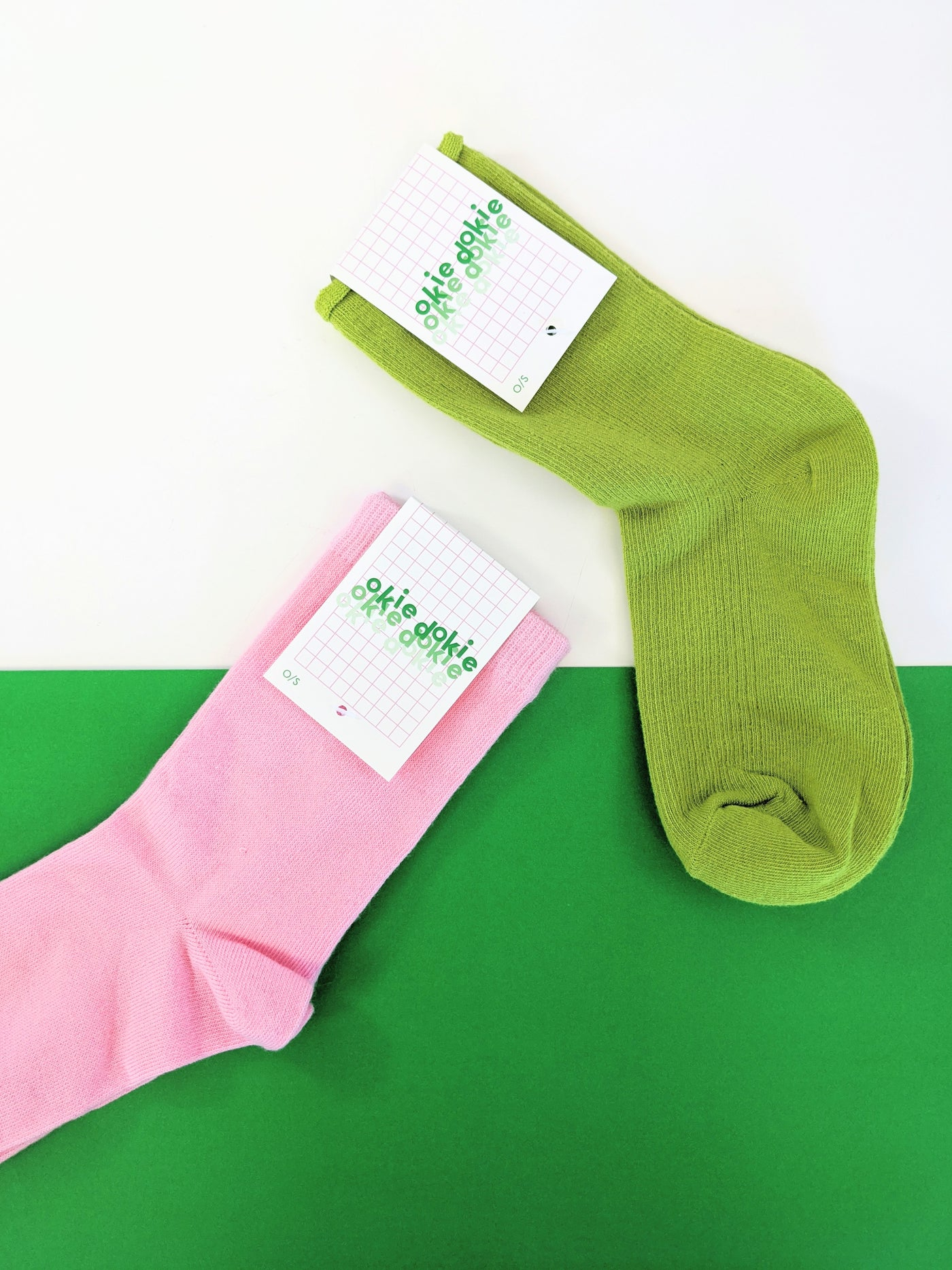 Pea Green socks by Okie Dokie available at Local Assembly