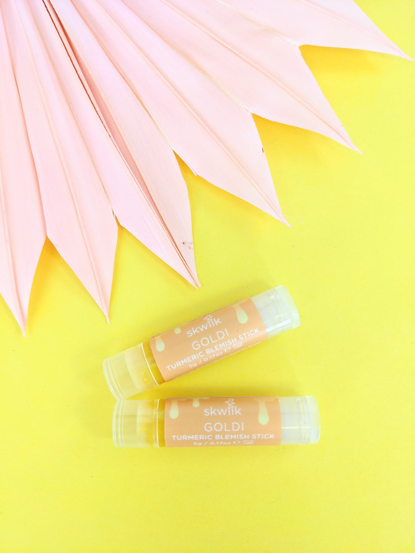 Goldi turmeric blemish stick by Skwiik available at Local Assembly