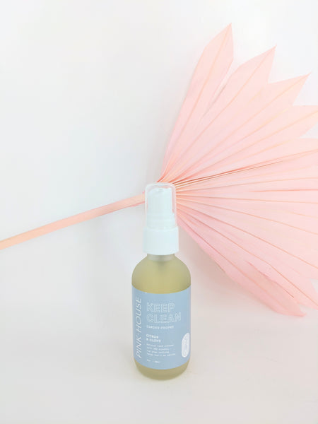 Natural hand sanitizer by Pink House available at Local Assembly