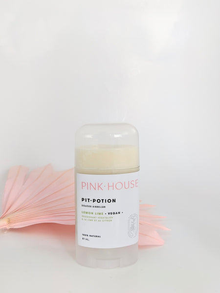 Lemon lime vegan deodorant by Pink House available at Local Assembly