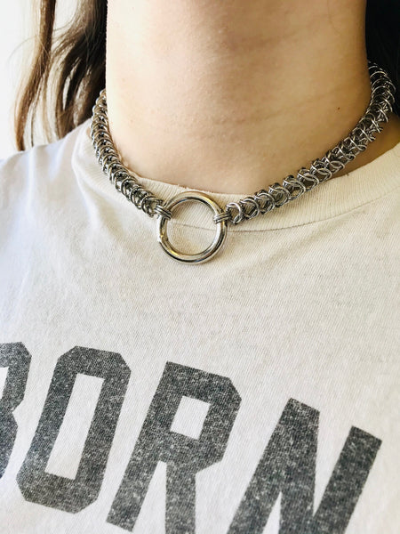 The Menace Collar by Ditch Metals available at Local Assembly