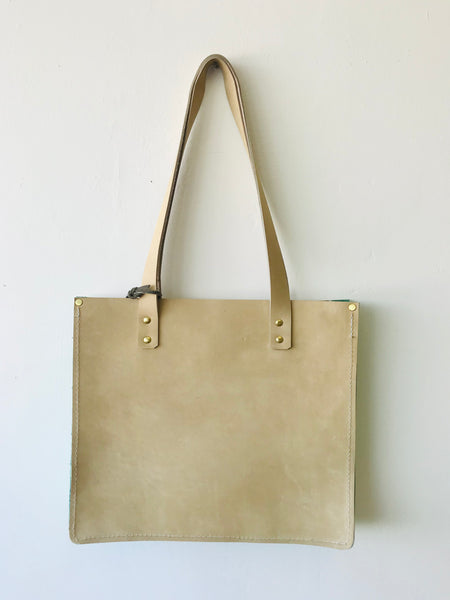 Sand leather tote by Rad Juli available at Local Assembly