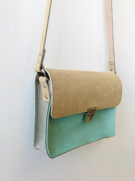 Sand leather perfect little purse by Rad Juli available at Local Assembly