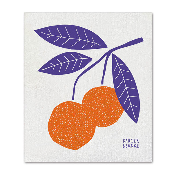 orange sponge cloth by Badger & Burke available at Local Assembly