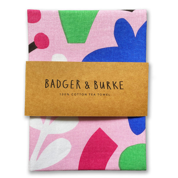 Cut out shapes tea towel by Badger & Burke available at Local Assembly