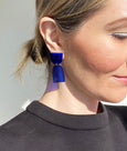 Blue acrylic earrings by Combinist Goods available at Local Assembly