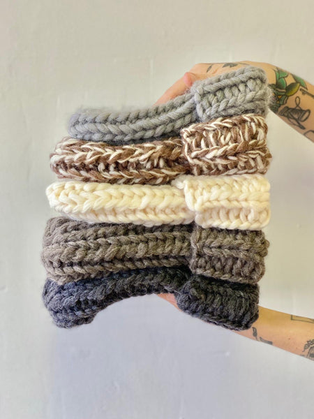 Hand knit toque by Dru Chapple available at Local Assembly