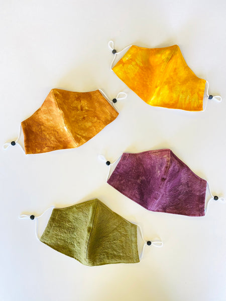 Face Mask in Hand-Dyed Solids Organic Cotton & Linen by Never Ending Weekend