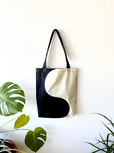 The Balance Bag - Waxed Cotton Canvas Tote by Never Ending Weekend